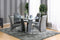 Glenview I Gray/Chrome Table + 6 Chairs