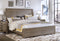 Grey Radiata Sleigh Bed