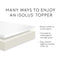 Malouf 2.5″ Gel Memory Foam Mattress Topper
