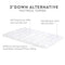 Malouf 3″ Down Alternative Mattress Topper