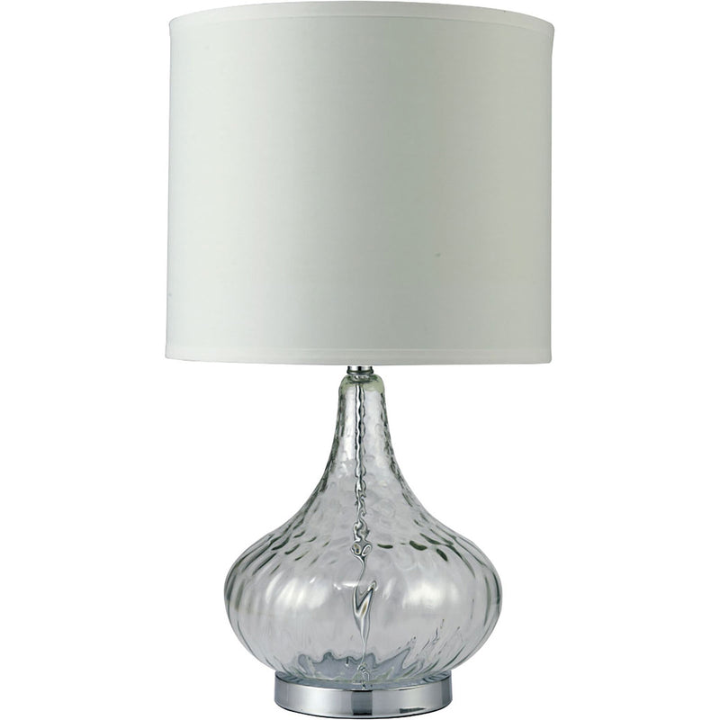 "Donna Clear 15""H Glass Clear Table Lamp image"