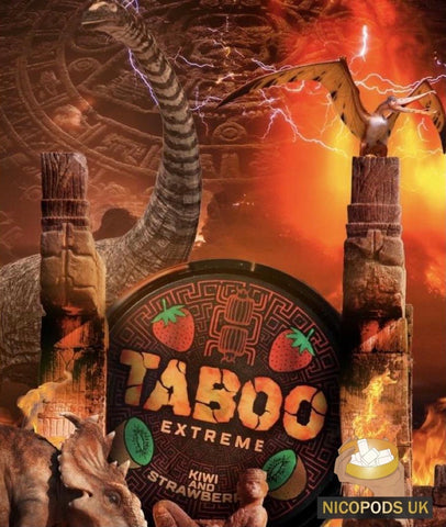 Taboo Extreme Kiwi and Strawberry - Nicopods.UK