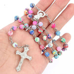 Colorful Polymer Clay Bead </br> Rosary Necklace