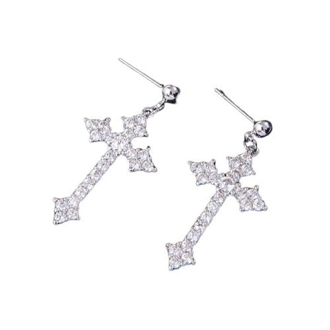 Cross Design Stud </br> Christian Earrings