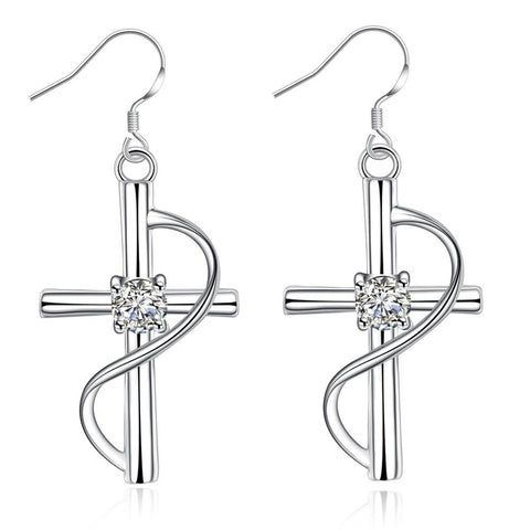 Cross Pendant </br> Christian Earrings