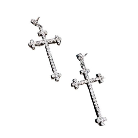 Cross Shape Charming </br> Christian Earrings