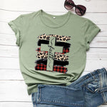 Faith Cross Plaid <br />Christian T-Shirt