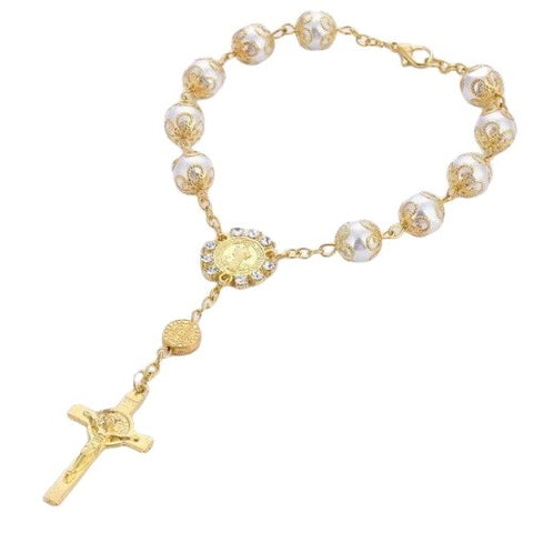 Holy Grail Cross  </br> Rosary Bracelet