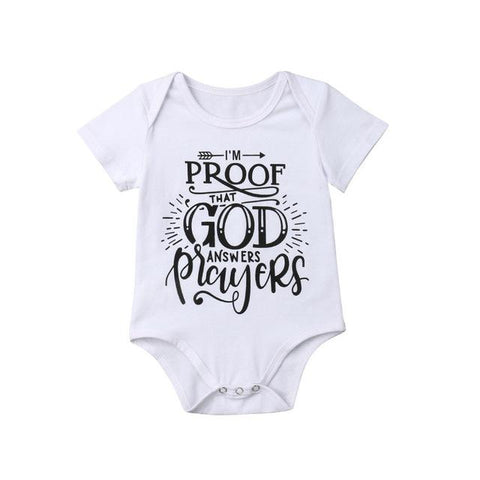 I'm a Proof of God Answers Prayers </br> Baby Bodysuits