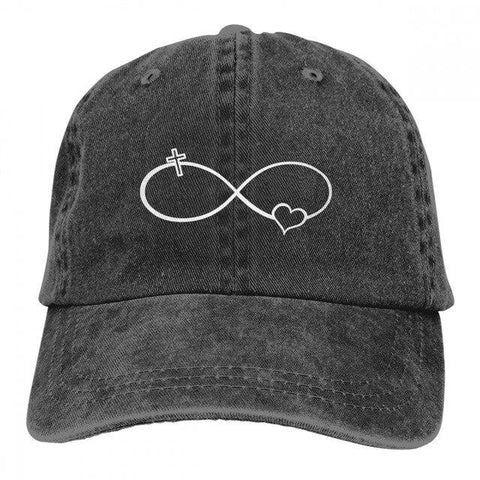Infinity Symbol Love Cross Heart Jesus </br> Christian Hat
