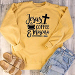 Jesus Coffee Mascara </br> Christian Sweatshirt