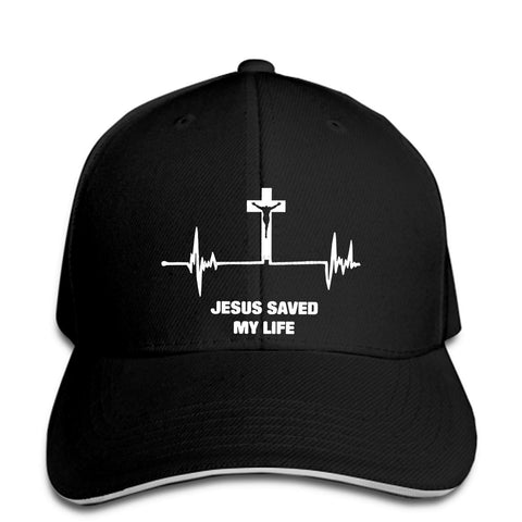 Jesus Saved My Life Heart Beat </br> Christian Hat