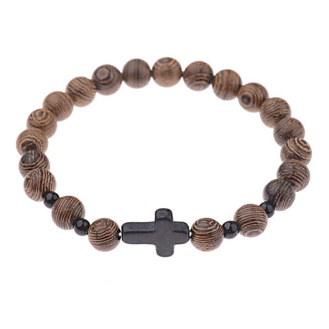 Natural Sandalwood </br> Rosary Bracelet