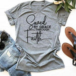 Saved By Through Faith </br> Christian T-Shirt