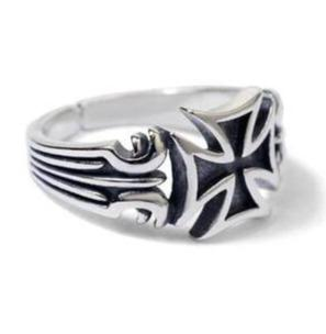 Silver Maltese Cross </br> Christian Rings