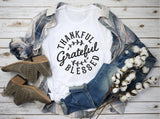 Thankful Grateful Blessed </br> Chritian T-Shirt