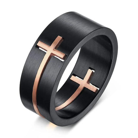 Thin Cross </br> Christian Ring