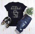 You have Bewitched Me Body and Soul Pride Prejudice </br>Christian T-Shirt