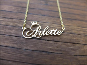 Custom Crown Name Necklace Personalized Jewelry