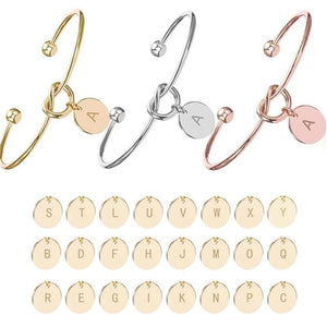 Personalized Knot Initial Bracelets Bangles