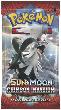 Sun and Moon Crimson Invasion  Pokémon Booster pack | D20 Games