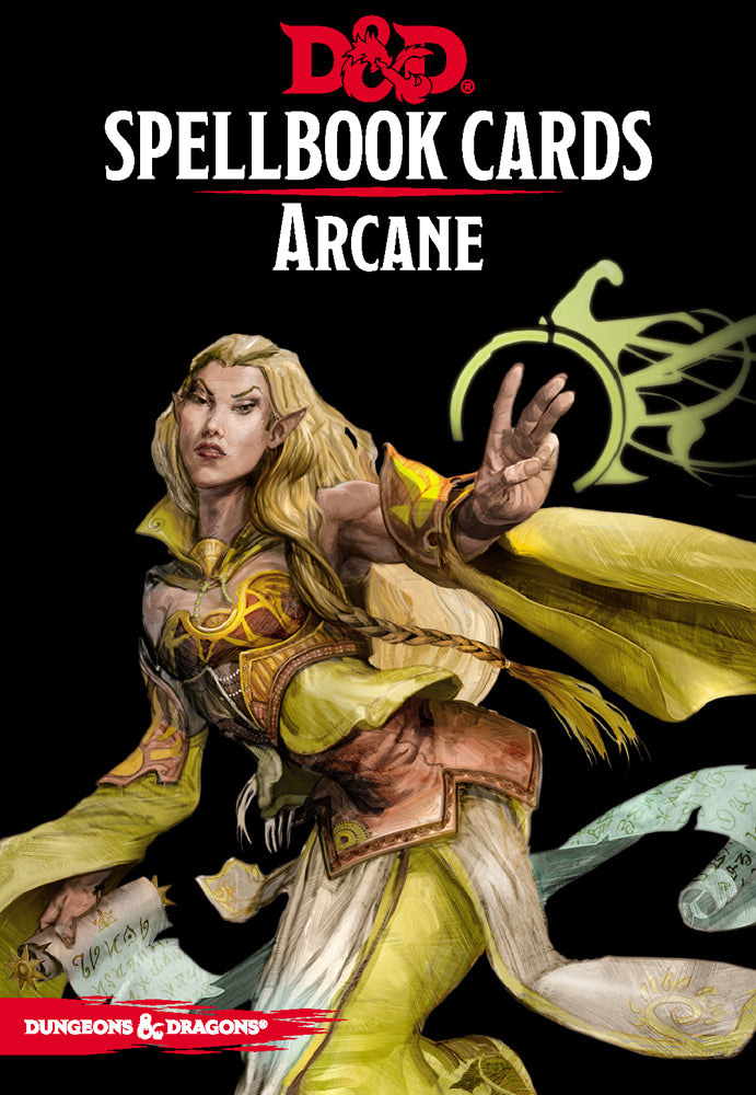 Dungeons and Dragons RPG: Spellbook Cards - Arcane Deck (253 cards) | D20 Games