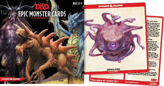 Dungeons and Dragons RPG: Epic Monster Cards (77 oversized cards) | D20 Games