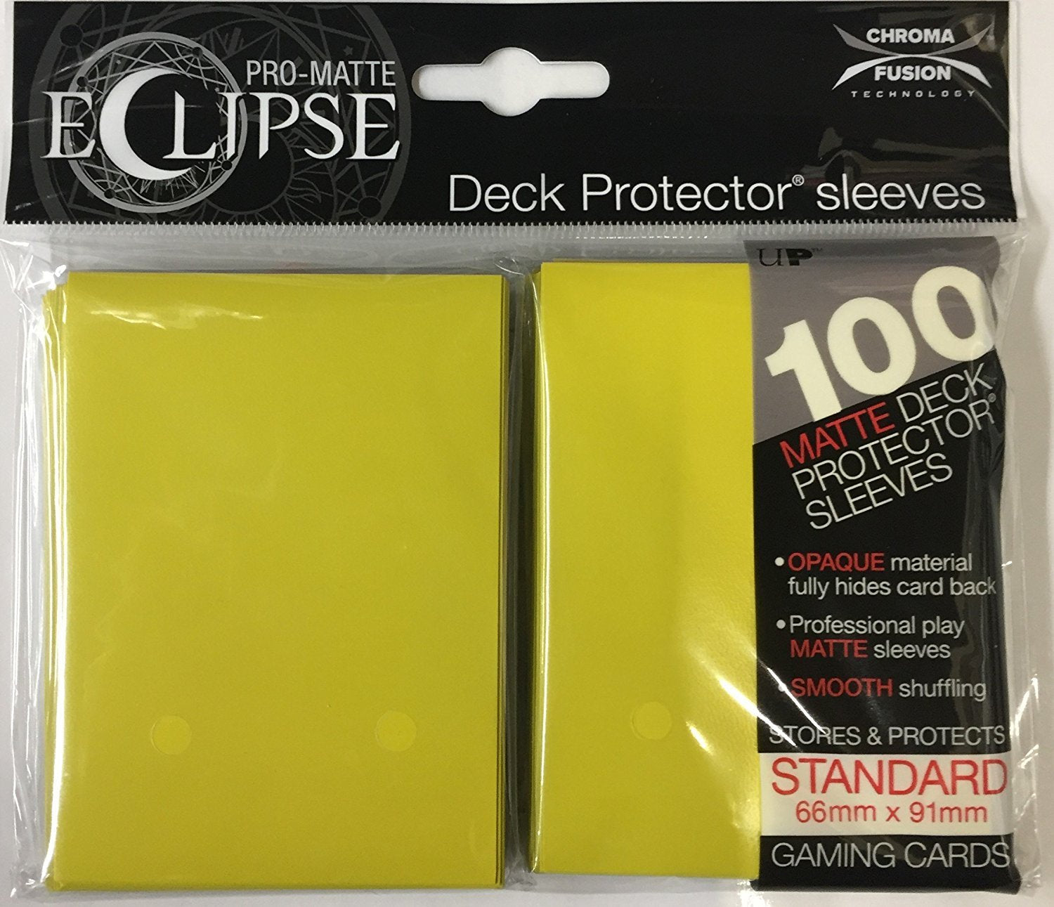 Eclipse Deck Protector Sleeves Matte Yellow | D20 Games