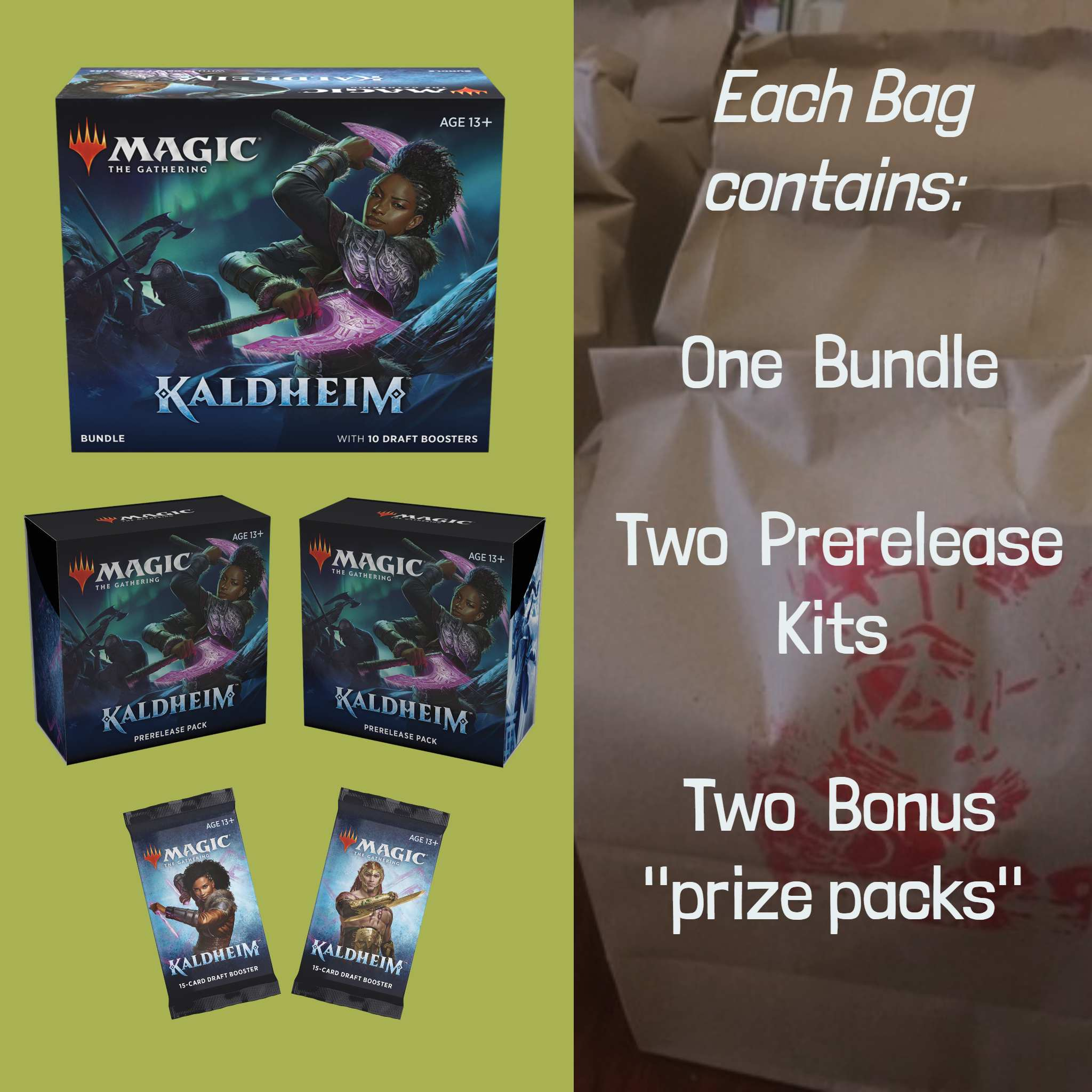 Kaldheim Gold Loot Bag | D20 Games