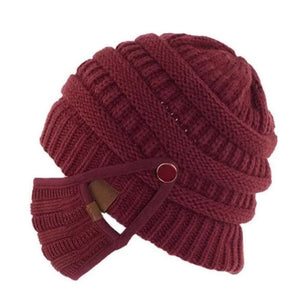 Knit Beanie And Face Cover - ZZSales