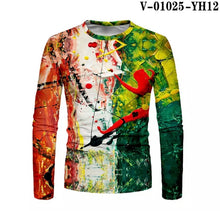 Load image into Gallery viewer, Men's Contrast Painting Print Long Sleeve T-shirt - ZZSales