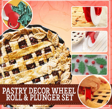 Pastry Décor Wheel Roll and Plunger Set - ZZSales