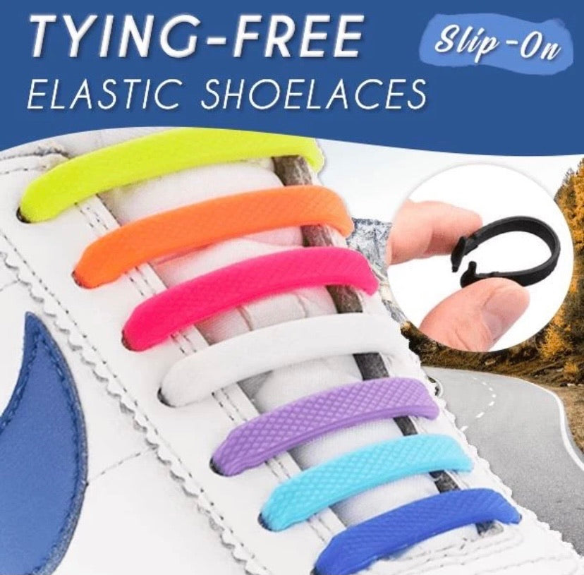 Tying-Free Elastic Shoelaces (Set of 16) - ZZSales
