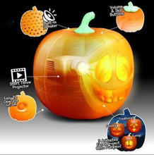 Load image into Gallery viewer, Halloween Flash Talking Singing Animated LED Pumpkin with Projector