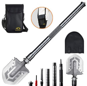 Portable Military Folding Shovel with Tactical Waist Pack & Multi-Tools - zzsales