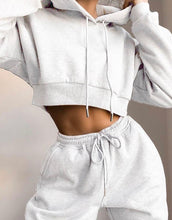 Load image into Gallery viewer, Solid Hooded Drawstring Top & Pants Set - zzsales