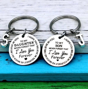 """Love you Forever"" Personalized Keychain - ZZSales"