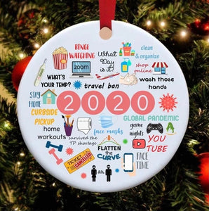 2020 Annual Events Christmas Ornament - ZZSales