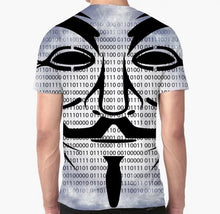 Load image into Gallery viewer, Men's Cyber Language Creative Art Print Crew Neck T-Shirt - ZZSales