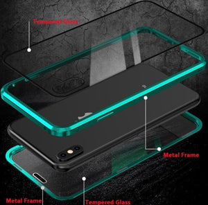Upgraded Two Side Tempered Glass Magnetic Adsorption Phone Case for iPhone - ZZSales