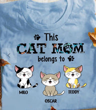 Load image into Gallery viewer, This Cat/Dad Mom Belongs To - Personalized shirt - zzsales
