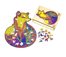 Load image into Gallery viewer, Majestic Wolf & Charming Fog wooden puzzle - ZZSales