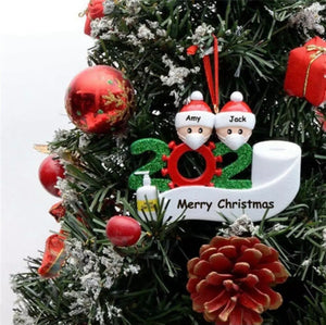 Santa Claus With Mask Personalized Xmas Tree Ornament - ZZSales