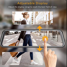 "Load image into Gallery viewer, 4K Mirror Dash Cam 9"" Touch Screen Front And Rear Dual Dash Camera"