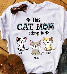 This Cat/Dad Mom Belongs To - Personalized shirt - zzsales