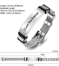 Load image into Gallery viewer, Custom Engraved Bracelet Best Gifts Stainless Steel for Me - ZZSales