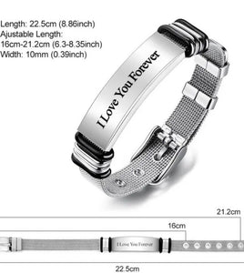 Custom Engraved Bracelet Best Gifts Stainless Steel for Me - ZZSales