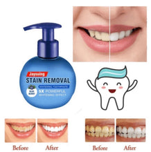 Load image into Gallery viewer, INTENSIVE STAIN REMOVAL WHITENING TOOTHPASTE + FREE TOOTHBRUSH - ZZSales