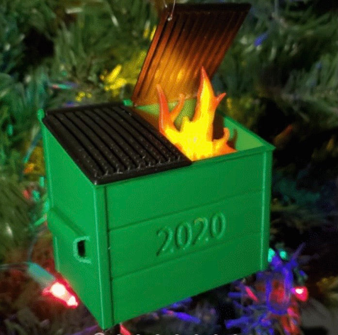 LED FLICKERING DUMPSTER FIRE (Ornament Free) - ZZSales