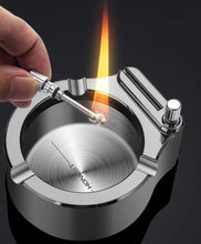 Load image into Gallery viewer, Retro Metal Ashtray Million Match Lighter - ZZSales